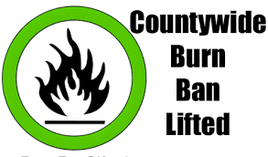 County Burn Ban Lifted